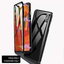 Роскошные 360 стеклянные магнитные адсорбционные чехлы для телефонов iphone XR X 8 7 Plus 6 6s магнит закаленное стекло для iphone XS MAX glas чехол