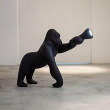 Lovely gorilla black landing villa living room lamp hotel lobby Exhibition Hall art decoration animal decoration table lamp