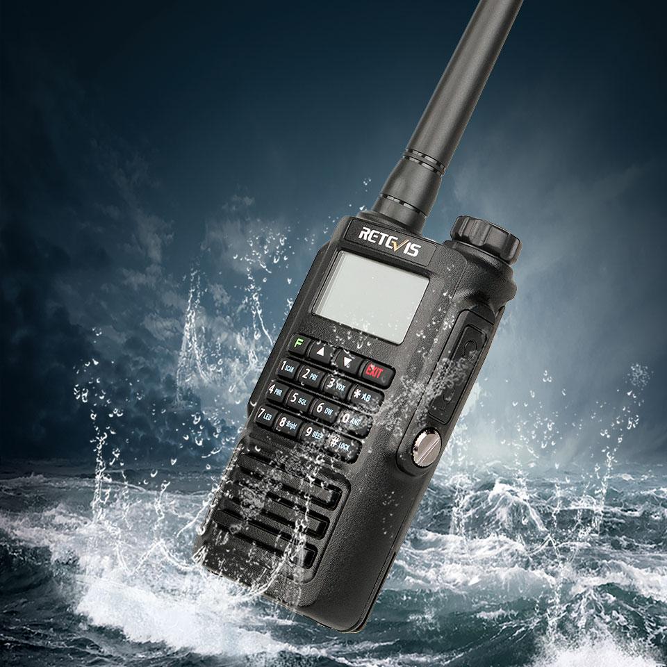RETEVIS RT87 Walkie Talkie Waterproof IP67 Ham Radio Amador Two-Way Radio 5W VHF UHF Dual Band Walkie-Talkie Hunting Airsoft