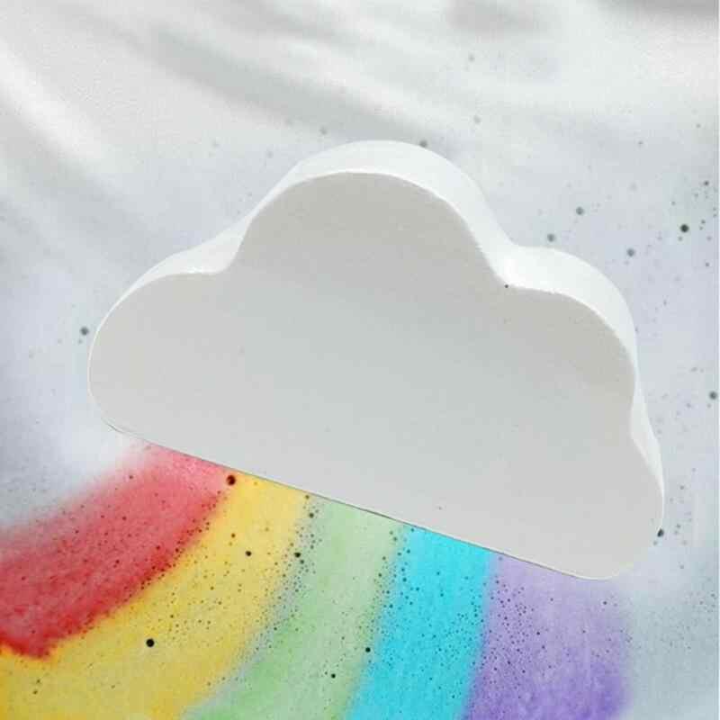 Natural cuidados com a pele forma nuvem rainbow banho bolha esfoliante hidratante banho bola bombas cuidados com a pele romântico banho de sal