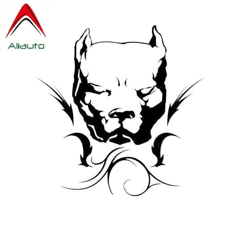 Aliauto индивидуальные наклейки для автомобиля, виниловая Солнцезащитная наклейка для собаки питбуля, автомобильный Стайлинг, декоративные а...
