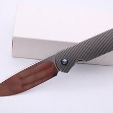 """Smke ножи Shamwari Передняя Флиппер складной нож 3,5 """"M390 лезвие пескоструйная 3D титановая ручка выживания тактический карманный нож"""