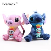 Hot Sale Cute Cartoon Lilo and Stitch Plush Toy Soft Stuffed Animal Dolls Kids Birthday Gift 23cm стоимость