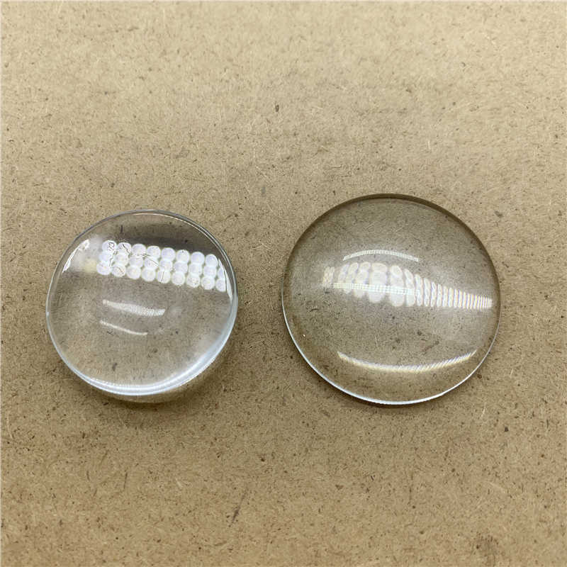 10Pcs กลมแบนโปร่งใสแก้ว Cabochon สำหรับเครื่องประดับ DIY ผลการค้นหาเครื่องประดับ 6/8/10/ 12/14/16/18/20/25/30 มม.