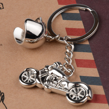 Fashion Men Cool Motorcycle Pendant Alloy Keychain Car Key Ring Key Chain Gift Gold Ingot Knots Tassels DIY Jewelry Decorative image