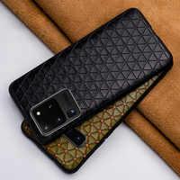 Caixa Do Telefone de couro Para Samsung Galaxy S20 ultra S7 S8 S9 S10e s20 Plus Nota 8 9 10plus Para A70 A30s A50s A7 A8 2018 Caso Do Couro