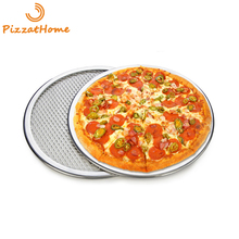 PizzAtHome 6 to 22 inch Pizza Stone Seamless Aluminum Mesh Pizza Pan Baking Screen Round Pizza Tool Oven Accessories Bake Ware