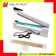 Impulse-Sealer Sealing-Machine Manual Heat Plastic with Date-Mold Metal-Case 8mm Wide-Seal-Width