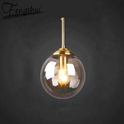 北欧ガラス鉄のペンダントライト装飾 Led ランプペンダント照明リビングルームダイニングルームベッドルームロフトぶら下げランプ