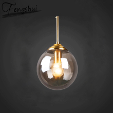 купить Nordic Glass Iron Pendant Lights Lamp  Decorative LED Lamps Pendant Lighting Living Room Dining Room Bedroom Loft Hanging Lamp по цене 2801.94 рублей