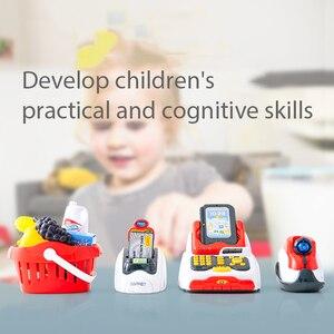 Image 3 - ילדים לילדים קופת של צעצוע סימולציה סופרמרקט קניות ילדה ילד לסחוב כרטיס מכונה מכירות קופה