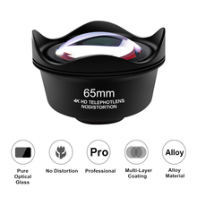 Orsda Universal 4K HD 2.5X Telephoto Lens Kit 65mm No Distortion Phone Camera Lentes for iPhone Android Smartphones