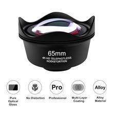 Orsda evrensel 4K HD 2.5X telefoto Lens kiti 65mm hiçbir bozulma telefon kamera Lentes iPhone Android akıllı telefonlar için