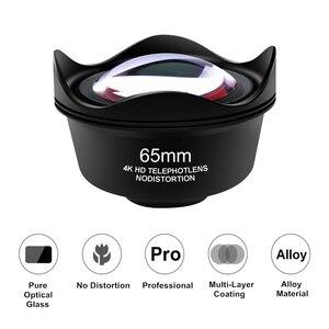 Image 1 - Orsda evrensel 4K HD 2.5X telefoto Lens kiti 65mm hiçbir bozulma telefon kamera Lentes iPhone Android akıllı telefonlar için