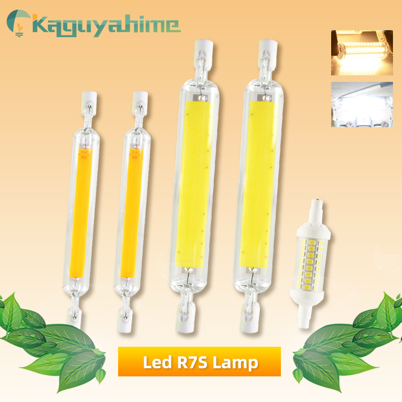 Kaguyahime R7s LED COB Dimmable Lamp 220V 110V 135mm 118mm 78mm LED R7S Bulb 2835 SMD Lamp Replace Halogen Light Spotlight Bulb