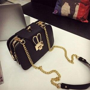 Image 2 - Women Spring Fashion Chain Shoulder Bags Brand Flap Designer 3 Layer Handbags Clutch Ladies Metal Buckle Crossbody Messenger Bag