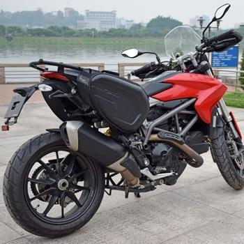 58L motorcycle saddle bag rear seat luggage large capacity saddle bag helmet bag trunk waterproof For Honda Suzuki KTM Yamaha