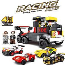 Speed champion Legoed technic city off road truck 4in1 680PCS Racing car building block children assemble toy(China)