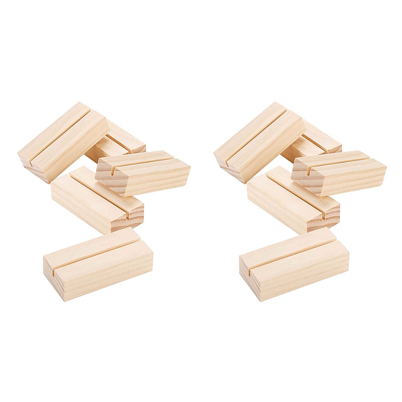 30PCS Wood Place Card Holders Wooden Menu Sign Holder Table Numbers Card Display for Wedding Party Decoration