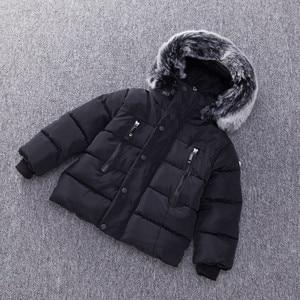 Image 2 - Baby Boys Jacket Fashion Autumn Winter Jacket Coat Kids Warm Thick Hooded Children Outerwear Coat Toddler Boy Girls Clothing