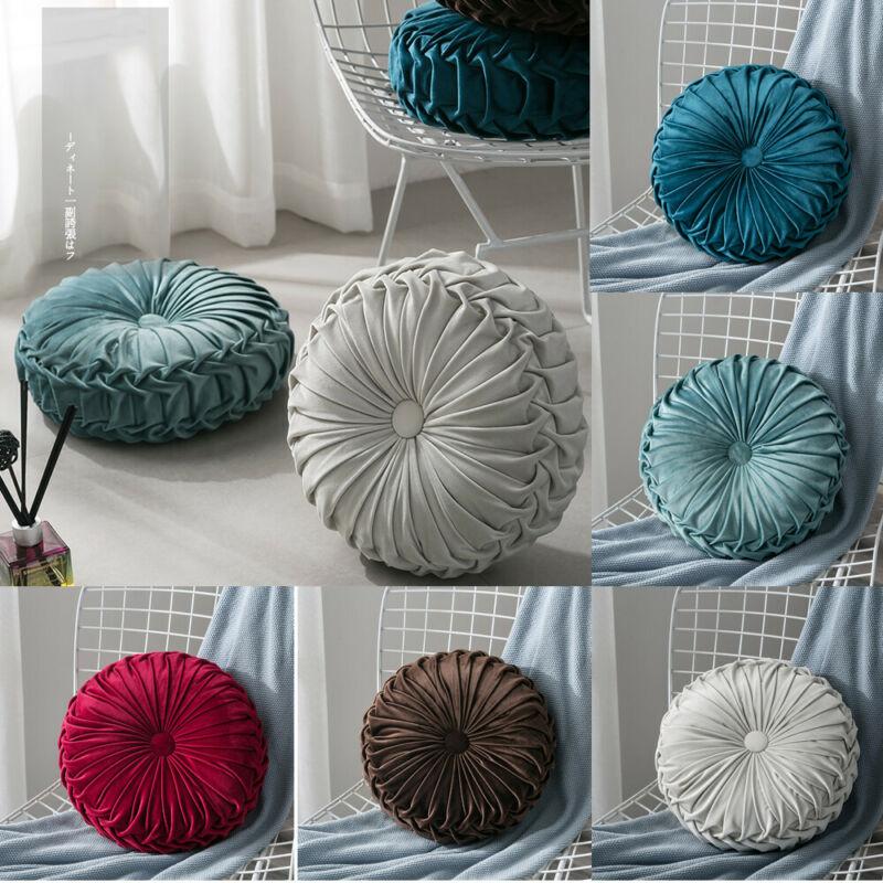 Velvet Pleated Round Floor Cushion Pillow Pouf Throw Home Sofa Decor Velvet Pleated Round Floor Cushion Pillow Pouf Throw Home Sofa Decor