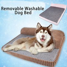 pet dog bed beds for large dogs medium small dogs	bamboo hand wash golden retriever soft cool