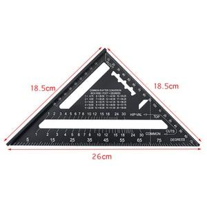 Image 5 - 12Inch Speed Vierkante Metrische Aluminium Driehoek Heerser Pleinen Voor Meetinstrument Metrische Hoek Gradenboog Houtbewerking Gereedschap