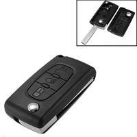 Llave de coche plegable portátil, carcasa de llave remota de 3 botones para Citroen C2 C3 C4 C5 C6, entrada sin llave Fob, funda de alarma de coche
