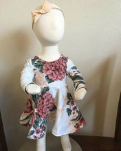 Long Sleeve Dress +Headband 2pcs Outfits Set Clothes For 0-24 Month