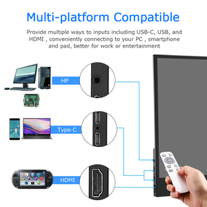 "Image 4 - Eyoyo Monitor portátil EM15C, pantalla táctil HDMI de 15,6 "", 4K, PC PS4, Xbox 3840X2160, IPS, LCD, LED, para ordenador portátil Raspberry Pi switch"