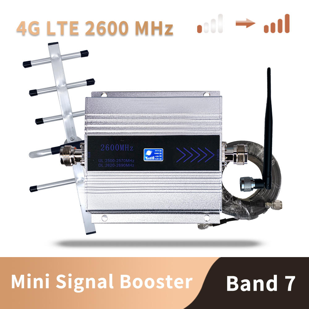 4g Signal Booster FDD LTE 2600mhz Band7 GSM Signal Booster 4G LTE 2600 Mobile Network Booster Cellular Signal Repeater