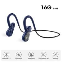 Auriculares inalámbricos con Bluetooth, dispositivo de audio de 16 GB de RAM, Memoria MP3, deportivo, Para correr, con gancho para la oreja, estéreo resistente al agua con micrófono