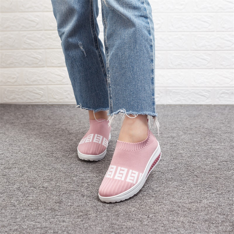 Women's Sneakers Breathable Mesh Wedges Summer Shoes For Women Walking Shallow Solid Non Slip Casual Shoes Girls Tennis Shoes