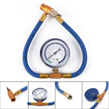 Pratical R134A To R12 R22 Refrigerant Recharge Hose Pipe &Can Tap Pressure Gauge Car Vehicle Accessories