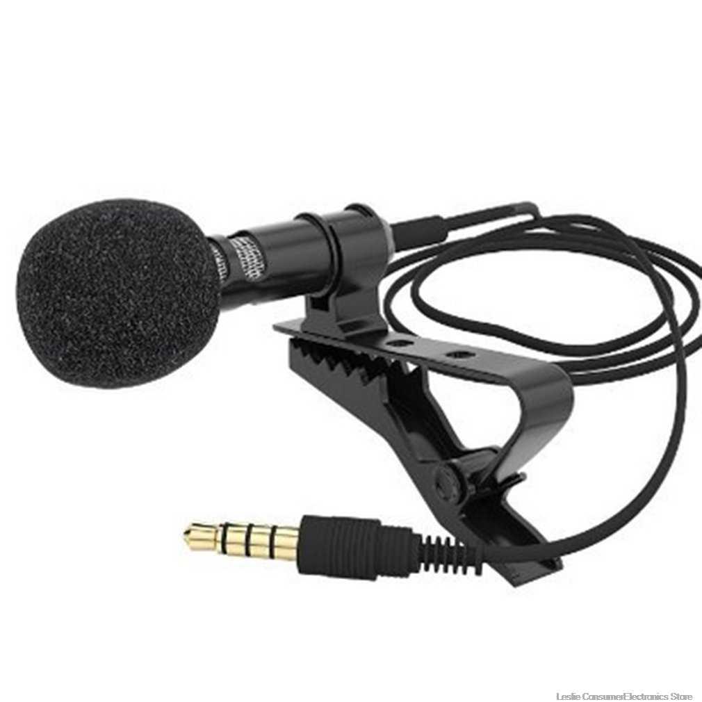 Mini Mikrofon Kondensor Clip-On Lapel Lavalier MIC Kabel untuk Ponsel Laptop untuk Ponsel Portabel Mini Stereo Hi Fi Sound kualitas