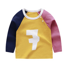 Baby Boy Cartoon O-Neck T-shirt Long Sleeve For 6M-2T