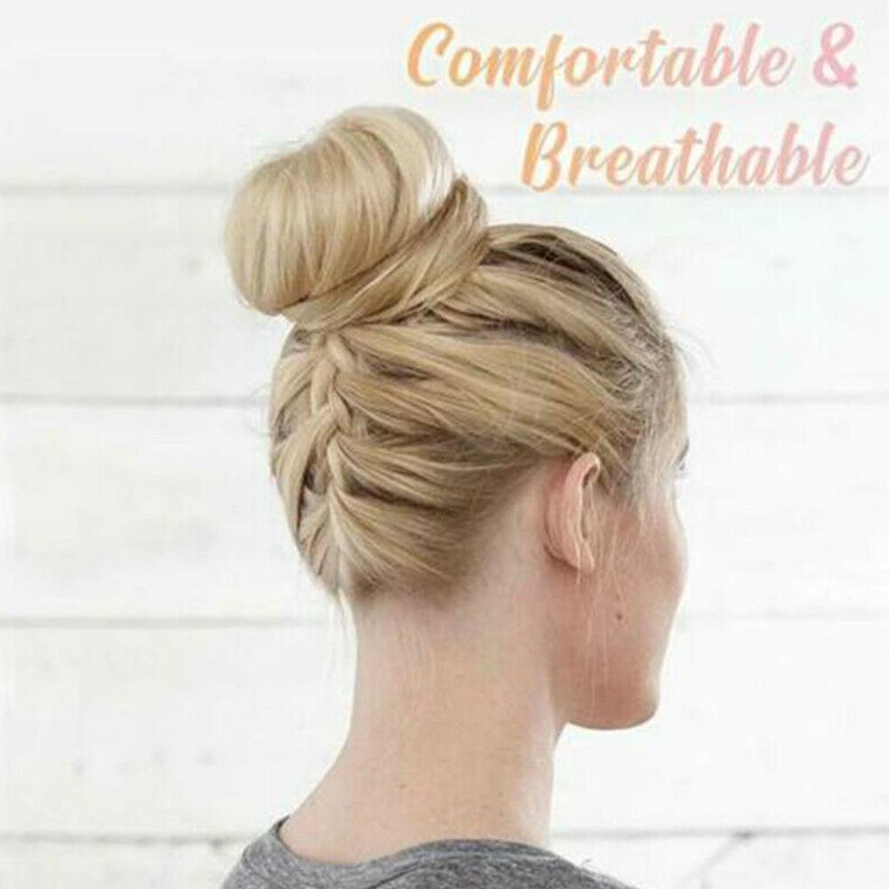 Women Girls Real Human Natural Curly Messy Bun Hair Piece Scrunchie Fake Hair Extensions   Headwear   Headband New