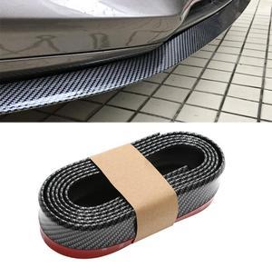Universal Black Carbon Fiber Front lip Splitter Chin Spoiler Side Skirt Body Kit Trim 2.5 Meters for Alfa Romeo 147 156 159(China)