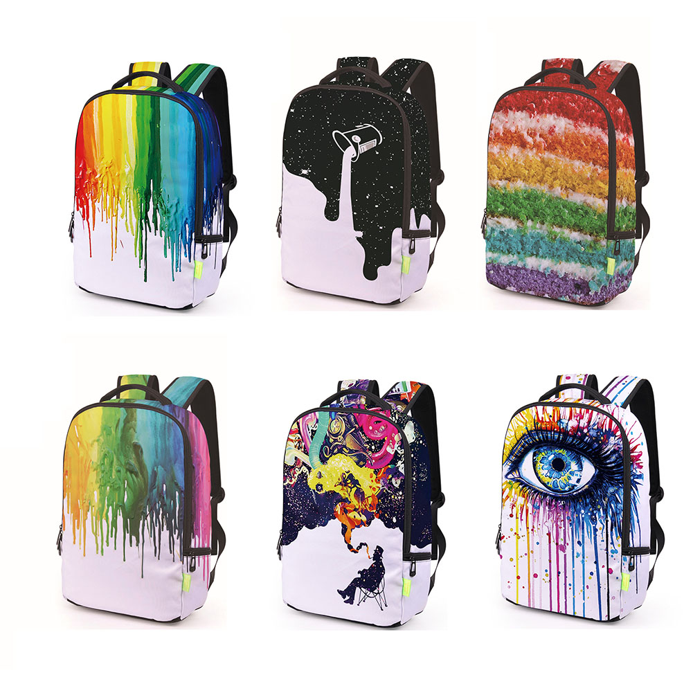 Rainbow Eyes Backpack Black Art African Girl Print Mochila For Teenagers Tumblr Middle Book Bag Schoolbag Mochila Escolar