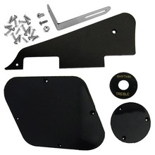 1Set Black Pickguard Cavity Switch Covers Pickup Selector Plate Bracket Screws Fit Les Paul Guitar Style Kit(China)