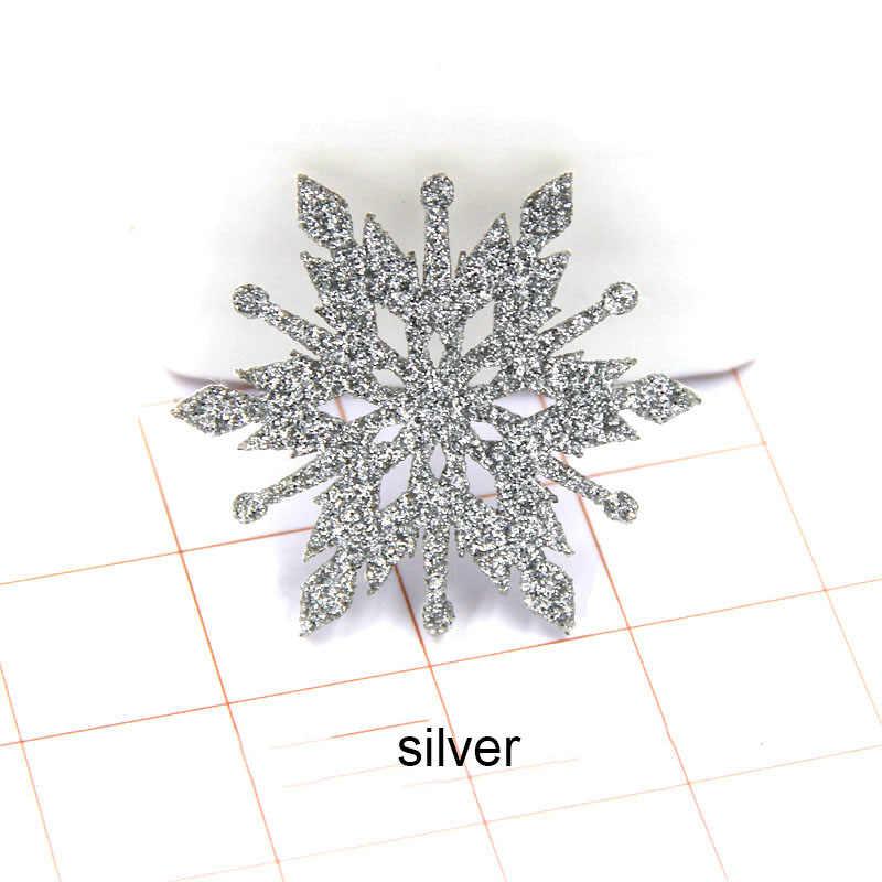 40 ชิ้น/ล็อต Christmas snowflake Padded Appliques สำหรับเด็ก Headwear คลิปผมอุปกรณ์เสริมและอุปกรณ์เสริม