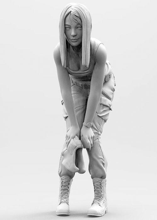 1/20 Modern Girl Stand Summer   Resin Figure Model Kits Miniature Gk Unassembly Unpainted