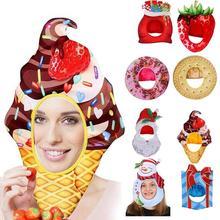 Strawberry Fruit Snacks Christmas Tree Hat Christmas Fruit Headgear Performance Props Halloween Carnival Headdress Party Cosplay