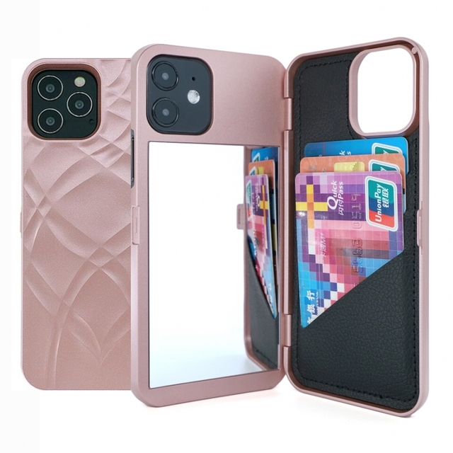 W7ETBEN Card Slot Wallet Make Up Mirror Back Cover Flip Case for iPhone 12 Mini 12 SE2 XS Max XR X 6 6S 7 8 Plus 11 12 Pro Max 1