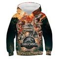 Jurassic Park Hoodie dinosaur 3D printing boys' clothing Sweatshirt children's top girls' sportswear children's coat