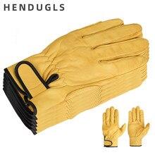 Hendugls couro luvas de trabalho de ovelha macia grossa confortável couro industrial luvas de segurança 5 pçs terno frete grátis 527my
