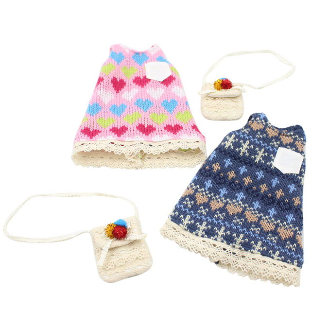 Free shipping Sleeveless Sweater with handbag suitable for Plump Blyth,F&D toys professional design