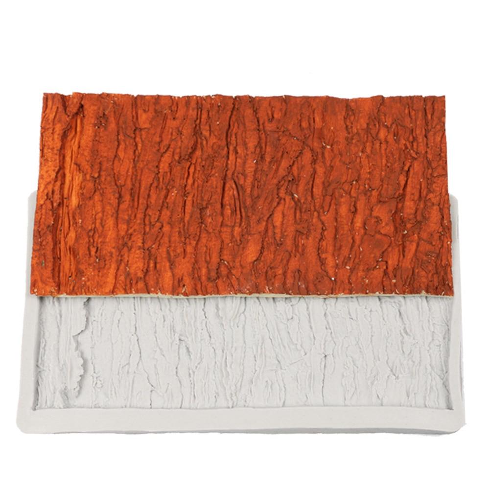 ثلاثية الأبعاد شجرة النباح خط شكل قالب من السيليكون فندان كعكة تزيين الخبز لتقوم بها بنفسك قالب DNJ998