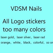 10 pçs vdsm logotipo terno adesivos de unhas projetos gommed 3d arte do prego adesivos decalques makep arte decorações