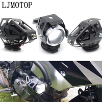 Faróis da motocicleta lâmpada auxiliar u5 led spotlight 12 v drl para kawasaki w800 café kx65 kx85 kx125 kx250 kx250f kx450f kx100|  -